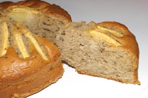 Gâteau aux pommes et parfumé au thé noir2