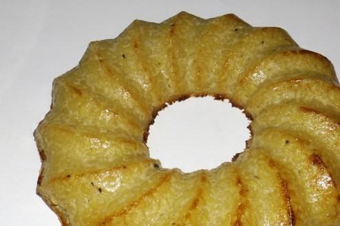 Gâteau vanillé au reste de coquillettes