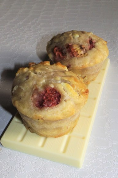 Muffins aux friases et chocolat blanc2