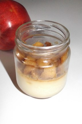 Panna cotta au caramel au beurre salé et aux pommes caramélisées2