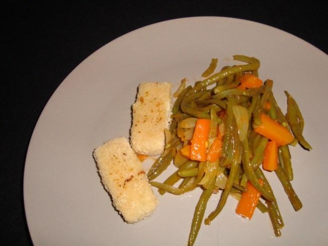 Poêlée de légumes verts et carottes à la sauce aigre-douce