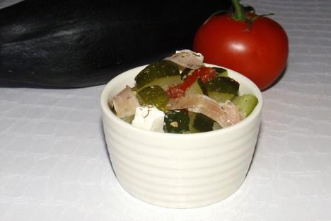 Salade de jambon cru, feta et jambon sec 3
