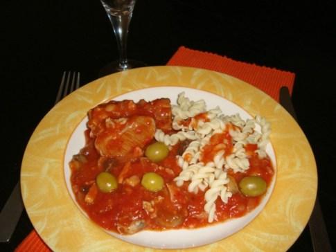 Sauté de dinde aux olives2