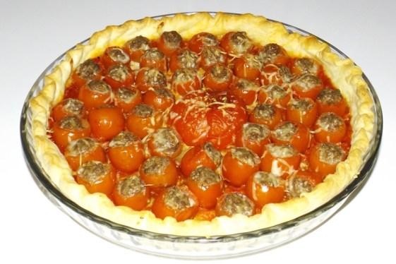 Tarte aux mini-tomates farcies