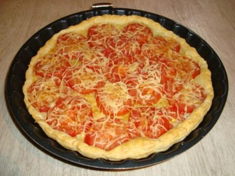 Tarte aux tomates et au sirop de Basilic