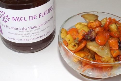 Légumes oubliés confits au four au miel des Cévennes