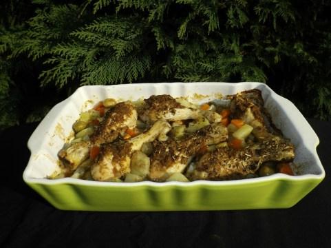 Poulet rôti à la tapenade verte et ses p'tits légumes.jpg