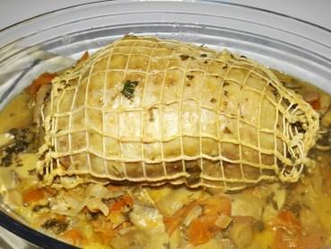 Rôti de dinde aux champignons, aux tomates et à l'anchoiade2