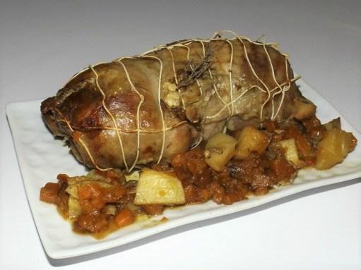 Rôti de dinde aux patates douces et aux pommes de terre au thym ( sac cuisson au four ).jpg