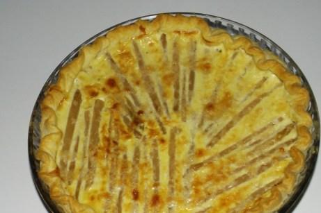 Tarte roquefort et asperge