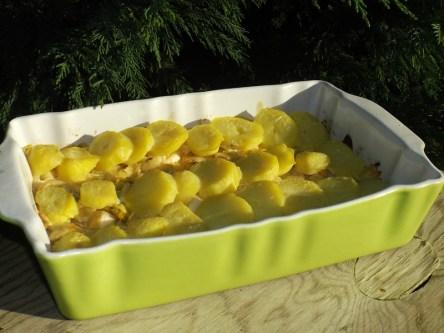 Gratin aux pommes de terre et à la fondue de poireaux ( recette Veggie ).jpg