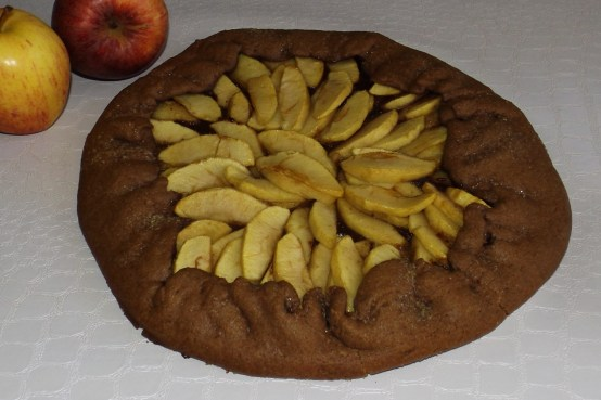 Tarte aux pommes et au chocolat noir