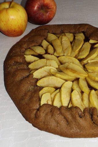 Tarte aux pommes et au chocolat noir2