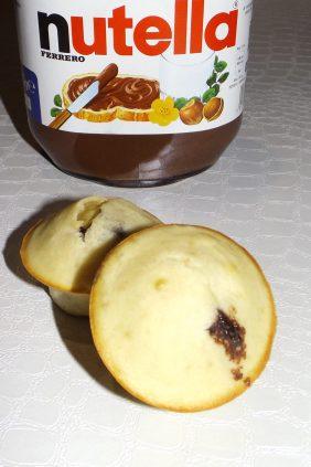 Muffins coeur Nutella 2
