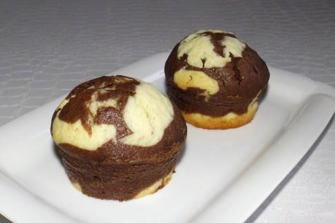 Muffins marbré chocolat et vanille