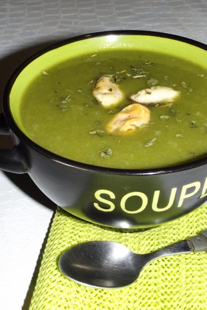 Soupe poireaux pommes de terre et moules WW2