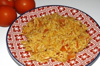 Riz pilaf tomates paprika
