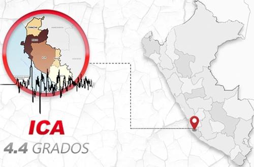 Ica fue remecida  por sismo de magnitud 4.4