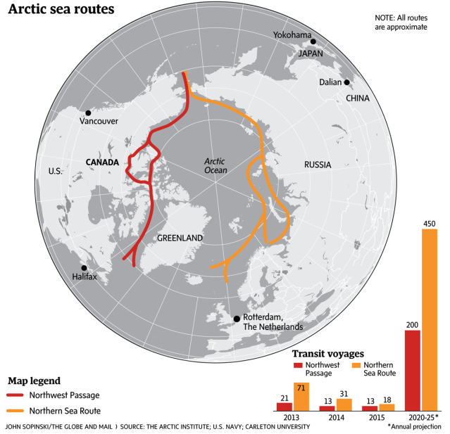 China looks to use Northwest Passage for faster shipping ...