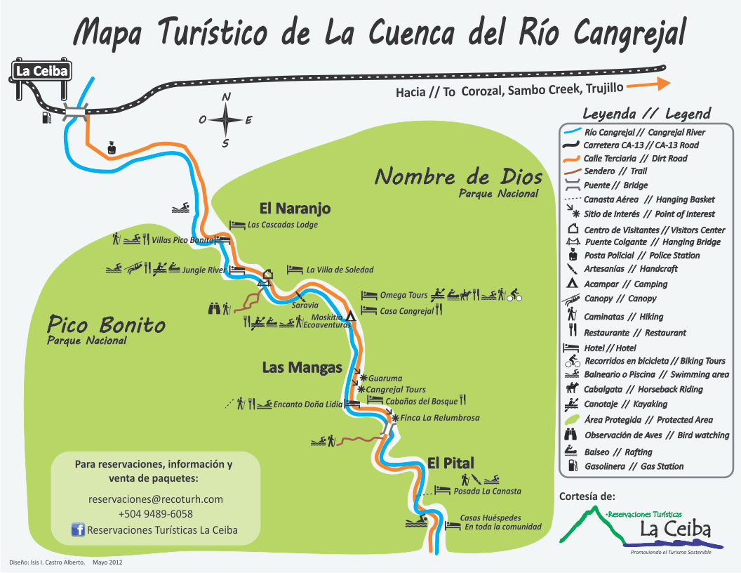 Cangrejal River Map