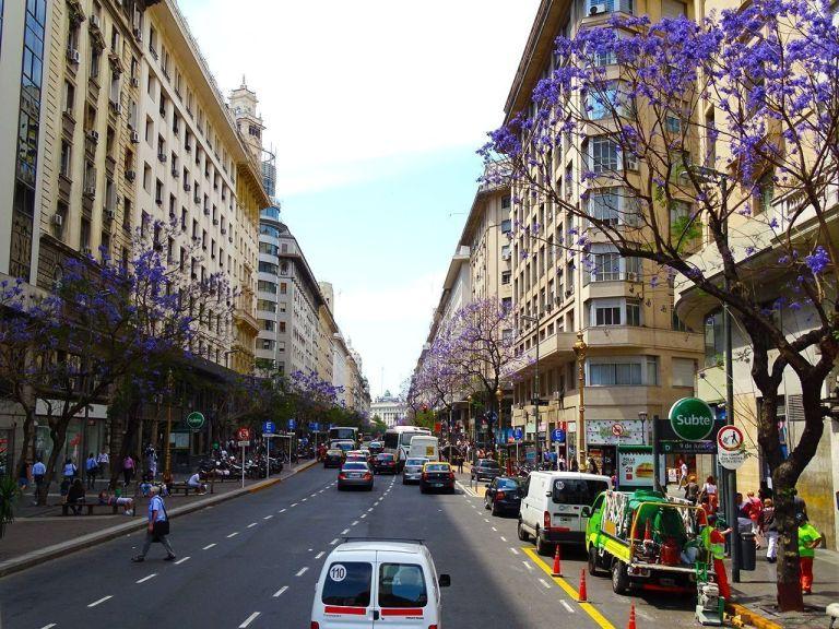 calles purpura en buenos aires