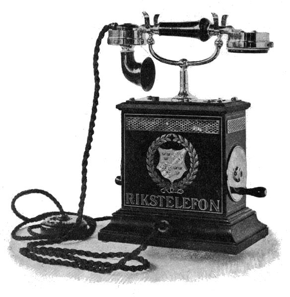 a telephone in its early stages