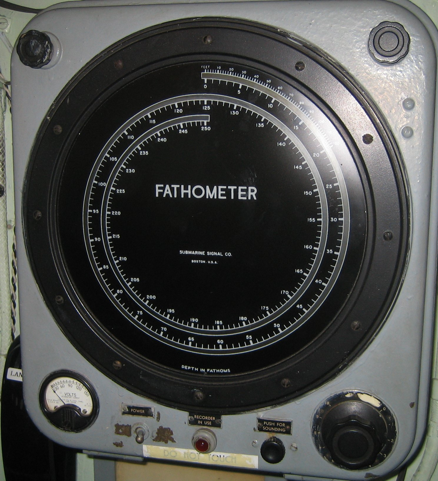 Fathometer, early form of the sonar