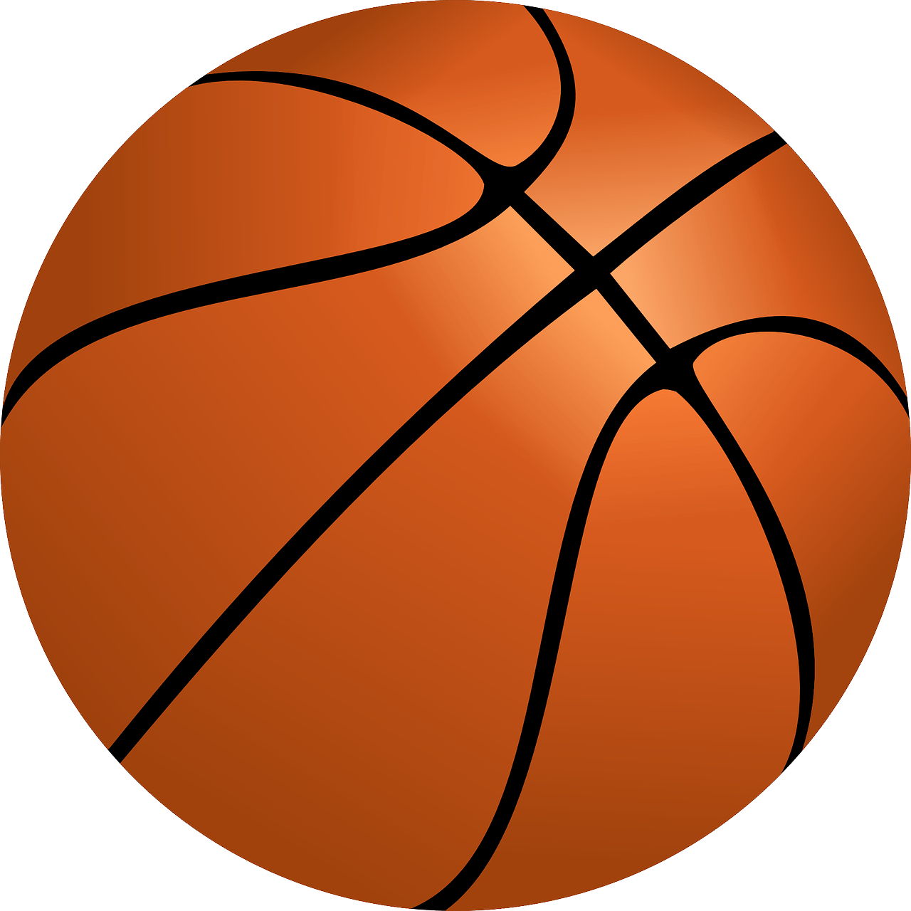 Cartoon picture of a basketball