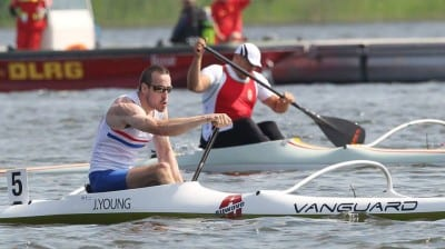 GB Canoeing athlete Jonny Young in action at the World Championships