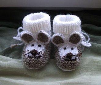 Hayvan Figürlü Bebek Patik