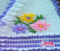 Bebek Yelek Modeli Çiçek İşlemesi Yapılışı