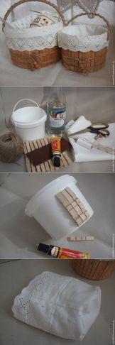 Plastik Kova ile Şık ve Dekoratif Sepet Yapımı Geri Dönüşüm