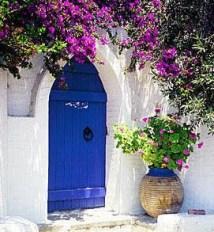 Rengarenk çiçekli kapı giriş tasarımları (22)