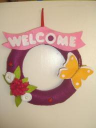 Hoşgeldin Yazılı Kapı Süsü