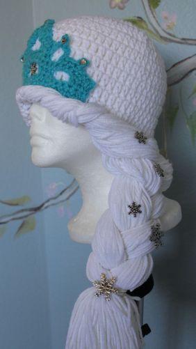 Elsa Örgü Bere Modeli Frozen Hat Crochet (1)