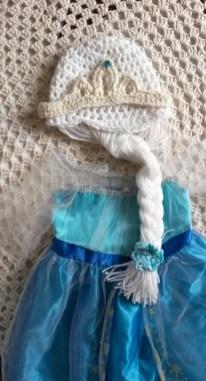 Elsa Örgü Bere Modeli Frozen Hat Crochet (25)