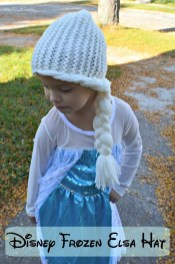 Elsa Örgü Bere Modeli Frozen Hat Crochet (33)