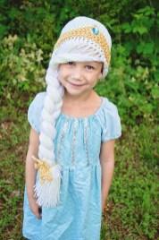 Elsa Örgü Bere Modeli Frozen Hat Crochet (34)