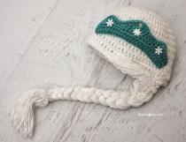 Elsa Örgü Bere Modeli Frozen Hat Crochet (4)
