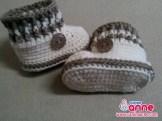 Erkek Bebek Bot Patik Örülüşü (2)