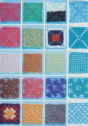 Renkli Kare Dantel Örnekleri