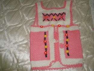 Tunus İşi Bebek Hırka Modelleri (7)