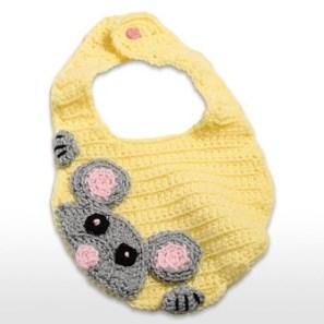 Örgü Bebek Mama Önlüğü