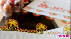 İğne Oyası Kırçiçeği Modeli Yapımı - Havlu Kenarı-11