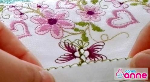 İğne Oyası Kelebek Modeli - Havlu Kenarı Yapımı
