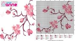 kanaviçe çiçek dalları