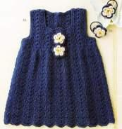 Bebek Yazlık Örgü Elbise Modelleri-13