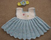 Bebek Yazlık Örgü Elbise Modelleri-8