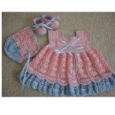 Bebek Yazlık Örgü Elbise Modelleri-9
