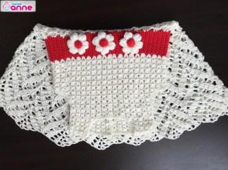 Tığ İşi Yazlık Çocuk Elbise Yapımı
